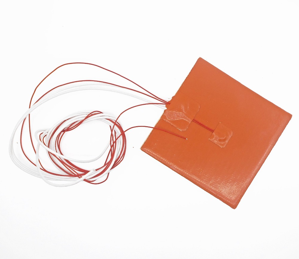 12V 50W 100mm x 100mm Heated Heater Pad Silicone Mat For 3D Printer Heat Bed