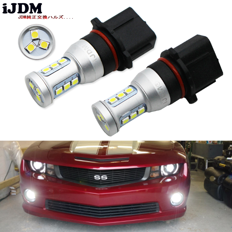 White P13W LED Replacement Bulbs For 2010-2013 Chevy Camaro