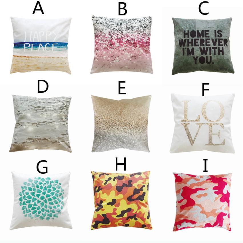 Pillow case 45 * 45cm Decorative Upholstery Cushion Cover Cozy Throw Pillow Cases pillowcases decorative Dropshipping 18jul12