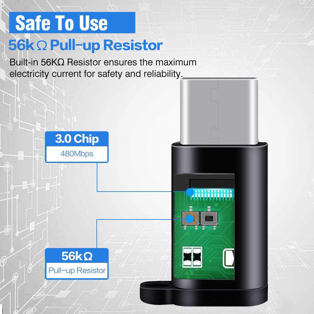Ascromy 2PCS Micro USB naar Type C Adapter Voor Xiaomi Redmi Note 7 Pro Samsung S9 Plus S10 OnePlus 5 5T 6 6T LG V30 USB Type C USBC