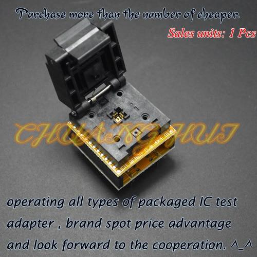 QFN20 to DIP20 Programmer Adapter DFN20 MLF20 WSON20 test socket Pitch=0.5mm Size=4mm*4mm qfn20 to dip20 mlf20 mlp20 plastronics qfn ic programming adapter test burn in socket 4 4 mm 0 5 pitch free shipping