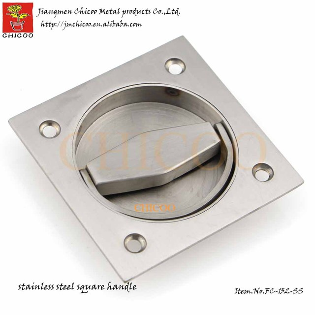 Stainless Steel Square Cup ring  Handle Recessed  handle door Cup Handle Flush pull