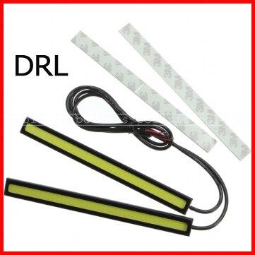 2pcsset 12V LED Daytime Running Lights COB DRL Fog Driving Lamp Waterproof day time running light