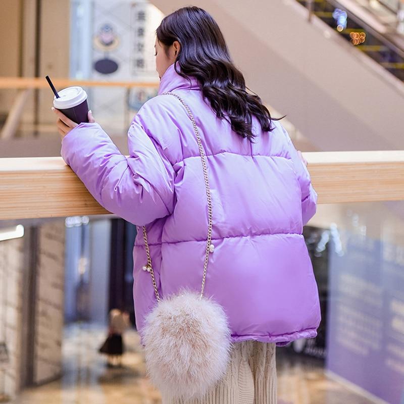 Coton Nouveau Survêtement Oversize Femmes Régulier Femme purple white Red Parkas Hiver Occasionnel Unique Black Longues Épais Vestes Manches Manteaux brick Chaud yellow blue Poitrine nIrISx