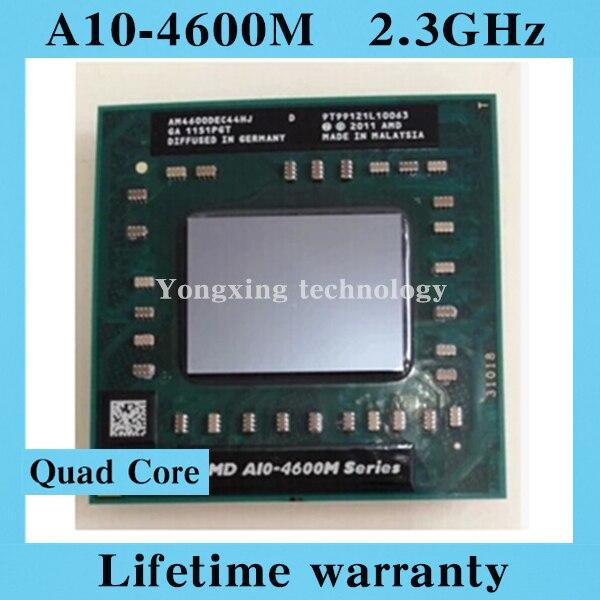 CPU 4M //2.3GHz//Quad-Core FS1R2 AMD laptop Mobile A10 4600M original Socket FS1