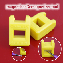 1pcs Yellow High Quality Magnetizer Demagnetizer Tool Screwdriver Magnetic(China)