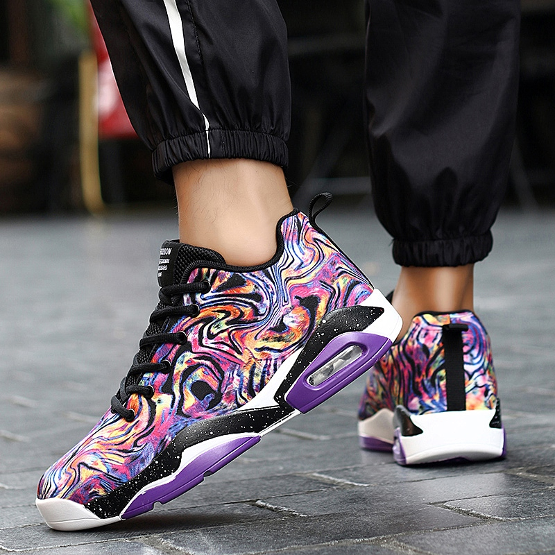 2019 New High Top Air Cushion Basketball Shoes Sneakers Footwear Breathable Male Outdoor Sports Shoes Zapatillas Trainer Shoes