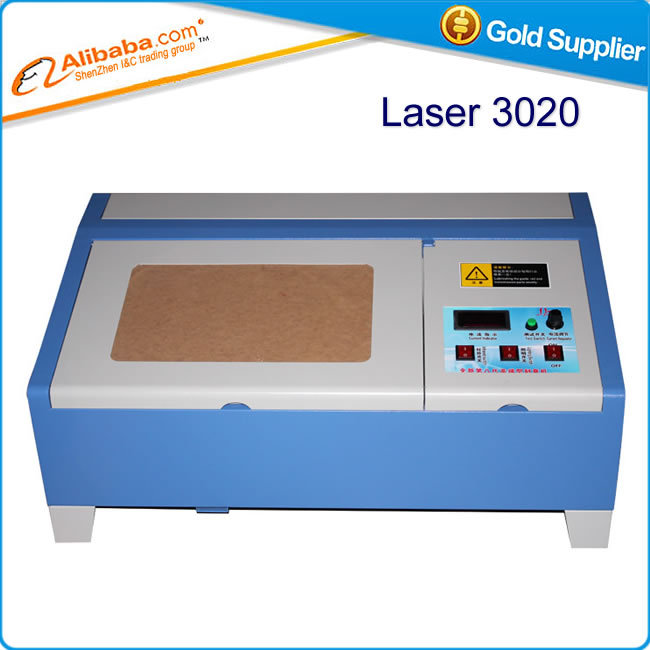 Russian tax free shipping Laser 3020 CO2 engraver machine 2030 laser cutter with digital function and