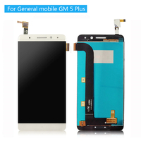 100% Tested LCD For 5.5'' General mobile GM 5 Plus Touch screen Lcd display screen assembly for GM5 Plus Android one+tools