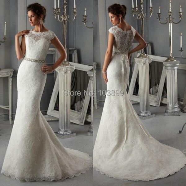 Schöne Illusion Spitze Durchsichtig Elegante Brautkleid 2015 Neueste ...