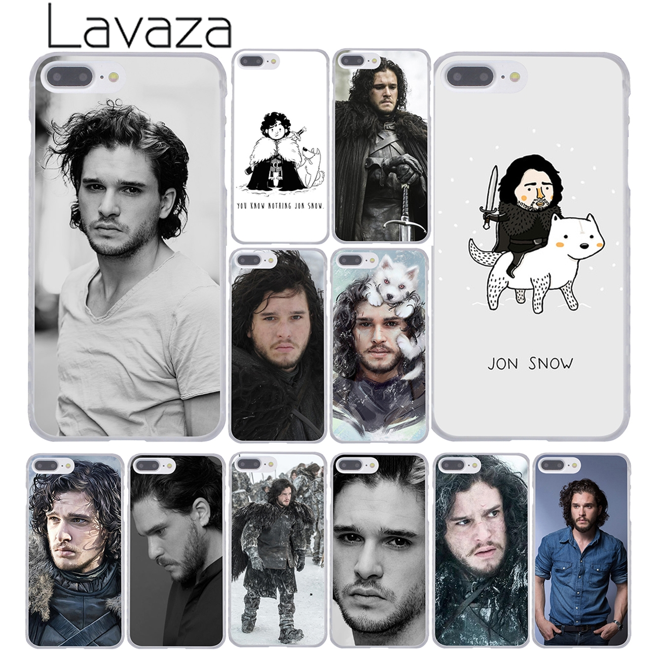 jon snow game of throne hellip Hard Plastic Clear Back Transparent Style Case Cover for iPhone 4 4s 5 5s 5c 6 6s 6 plus s