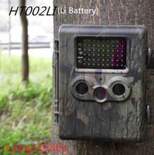 HT-002LI Wildlife Hunting Camera HD Digital Scouting Camera IR LED Video Recorder 12MP Rain-proof Rechargeable Trail Camera