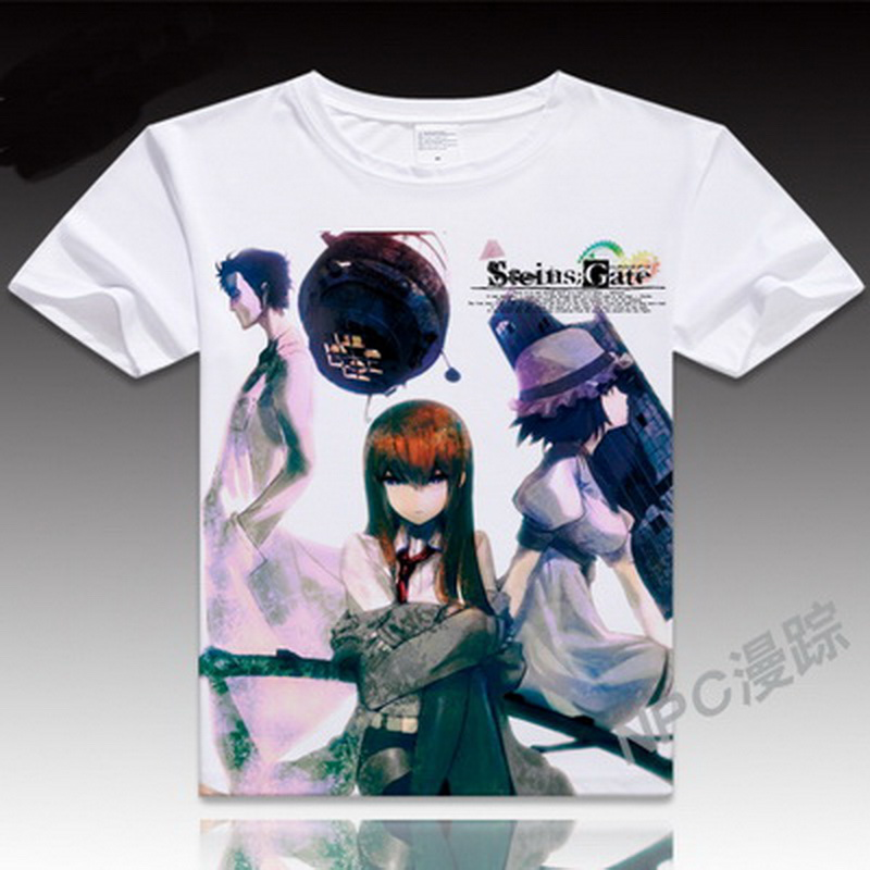 Back To Search Resultsmen's Clothing High Quality Casual Printing Tee Steins;gate El Psy Kongroo Anime Japan Series T-shirt Black Basic Tee Summer T-shirt Pure White And Translucent