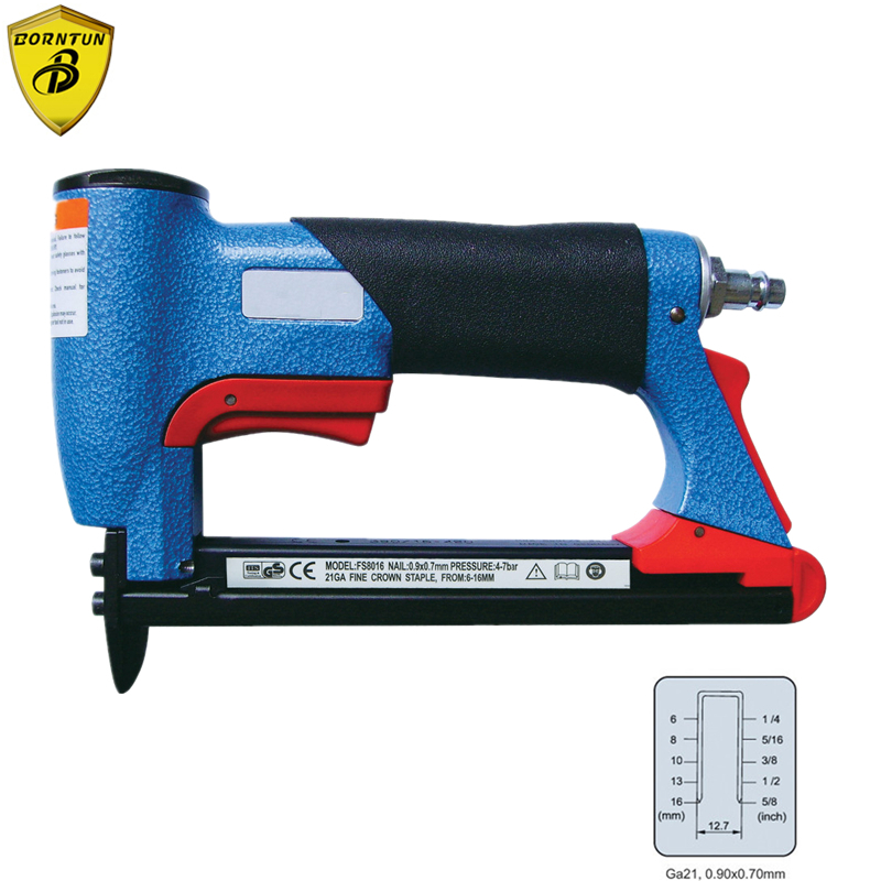 Pneumatic Air Stapler Nailer Nail Staple Stapling Gun FS8016-B 1/2 Fine Crown Nail 6-16mm Woodworking Pneumatic Air Power Tools kit engineering pneumatic air driven mixer motor 0 6hp 1400rpm 16mm od shaft