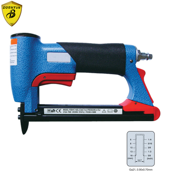 цена на Pneumatic Air Stapler Nailer Nailing Gun Staple Stapling Machine FS8016-B 1/2 Fine Crown Nail 6-16mm Woodwork Tool