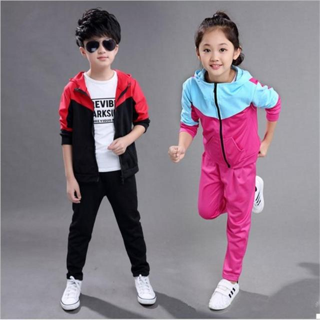 187bad06d9a For Fashion Children boys girls clothing sets kids clothes teenage autumn  winter cotton sportswear casual child coat pants sets