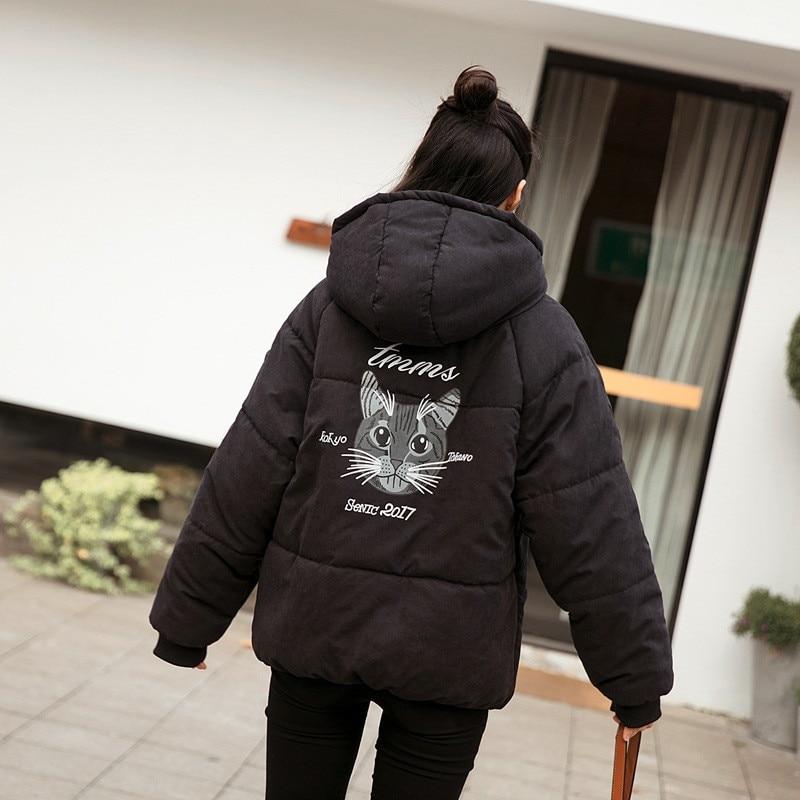 Capuchon Gray Imprimé De Vêtements Mode À Vestes black Survêtement Pain Épais Okxgnz1407 Manteaux Animal D'hiver Chaud Femmes New Plus Coton Size w1HzAaA