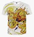 Moda Naruto Uzumaki Kyuubi no Modo de Batalha 3D Imprimir T-shirt de Algodão Unisex Verão Camisetas Adolescente Solto Homme Garoto Encabeça
