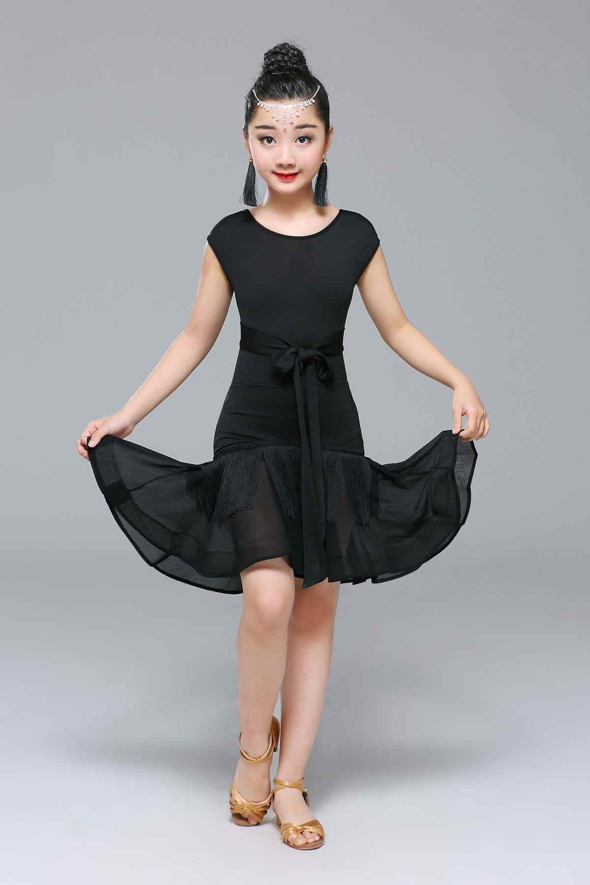 Anak Anak Anak Profesional Latin Dijual Gaun Pola Ballroom Gaun Anak Rumba Cha Cha Kostum