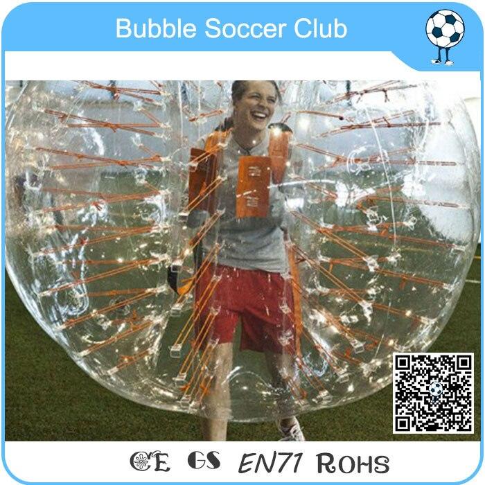 Boule de butoir bon marché de haute qualité de la CE, boules de fosse de jeu en plastique, boule de pied humain de jouet de boule