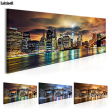 Large 5D DIY Diamond Painting,Cross Stitch,Full Square,city night view Mosaic Embroidery,High rise building,3D rhinestone decor
