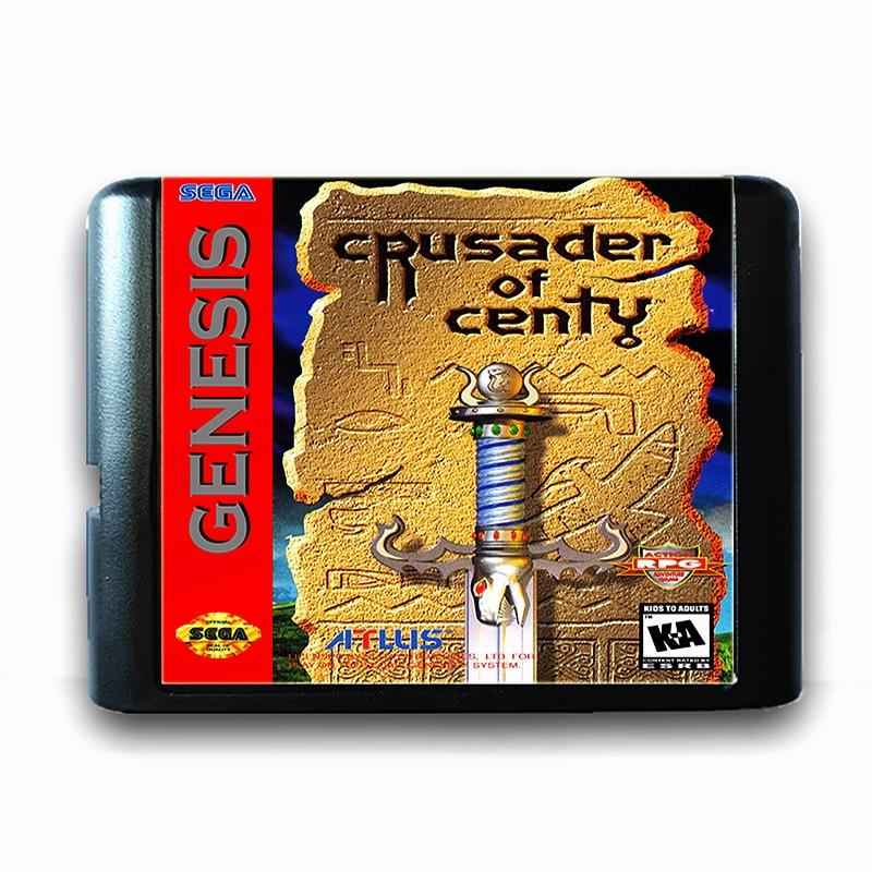 Crusader of Centy for 16 bit Sega MD Game Card for Mega Drive for Genesis Video Game Console PAL USA JAP