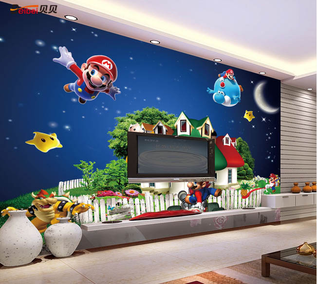 Superior ... Amazing Super Mario Wall Mural Awesome Ideas Part 20