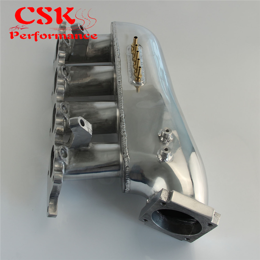Intake Manifold Fits For Mitsubishi Evolution Lancer EVO 4 5 6 7 8 9 4G63 Silver engine swap turbo intake manifold for mitsubishi evo 4 9 4g63 high performance polished it5934