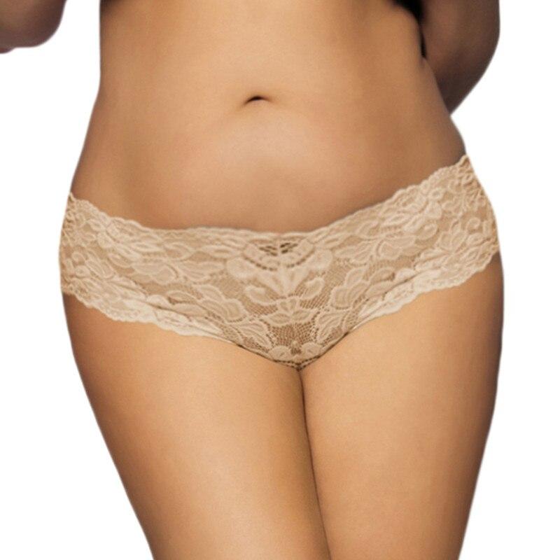 Slip en dentelle grande taille très sexy de haute qualité