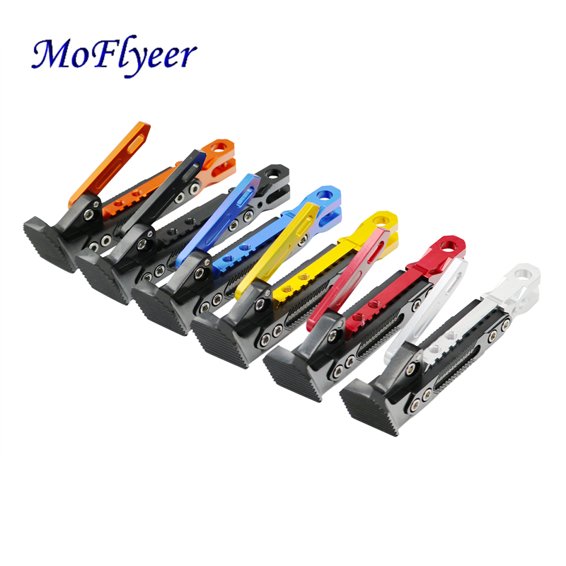 MoFlyeer Motorcycle Support Side Frame Adjustable High Support Modified Scooter Side Stand For Motorcycle Kickstand