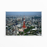 High Quality Acrylic Frige Magnet Tokyo Tower And City View Japanese Souvenir