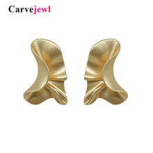 Carvejewl stud earrings irregular leaf for women jewelry girl gift earing 2019 spring style simple personality hot