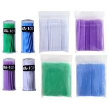 100pcs/lot Micro Durable Disposable Eyelash For Women glue cleaning stick Extension Individual Applicators Mascara Brush eyelash