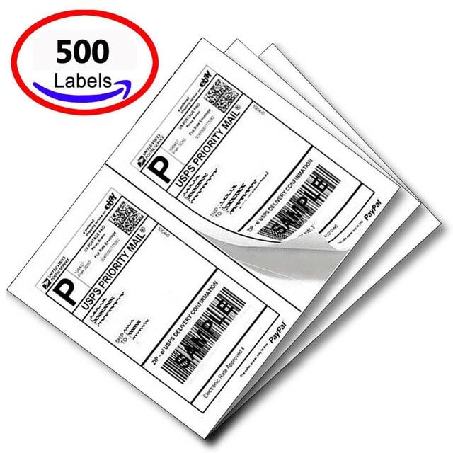 Us 647 Mflabel A4 Aufkleber 500 Halbe Blatt Selbstklebende Adresse Label Für Usps Klicken N Schiff Ups Fedex Anwendung Größe 1185 In Mflabel A4