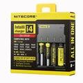 100% original nitecore i4 intellicharger i4 cargador de batería universal inteligente de carga de energía para el li-ion/nimh 18650/26650/aa