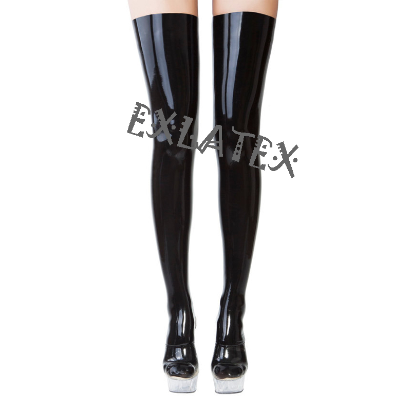 Latex Stockings Solid Womens Erotic Stockings Tights -5962