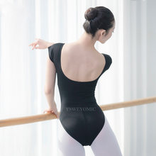 2019 High Quality Adult Girls Ballet Dance Wear Bodysuit Black Cotton Mesh Gymnastics Leotard Larger Size Ballet Leotard Women(China)