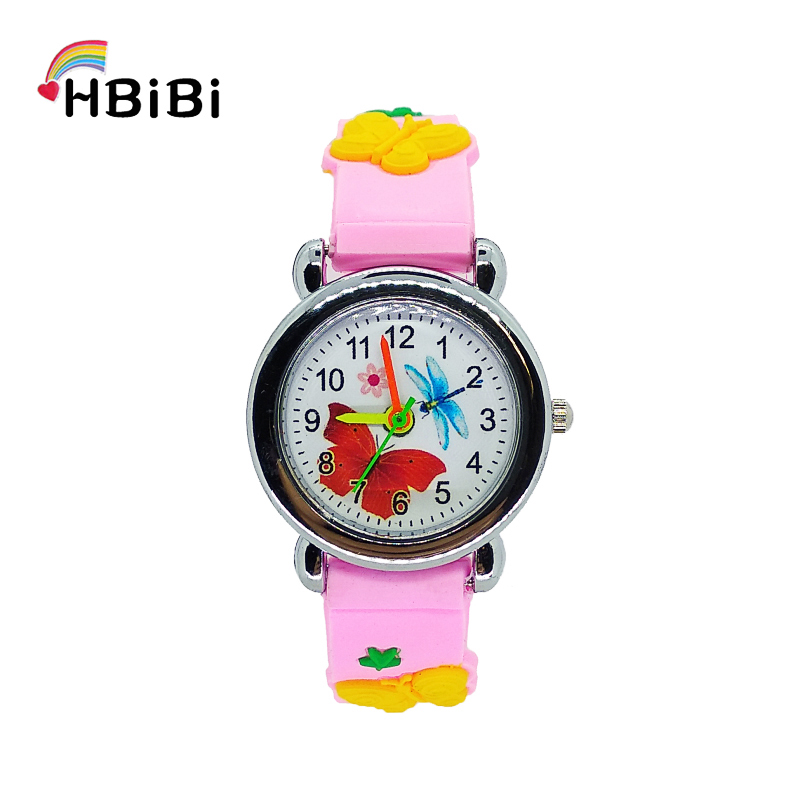 Child Outdoor Sports Watch Beautiful Butterfly Kids Watches Fashion Waterproof Quartz Wristwatches For Children Boys Girls Clock