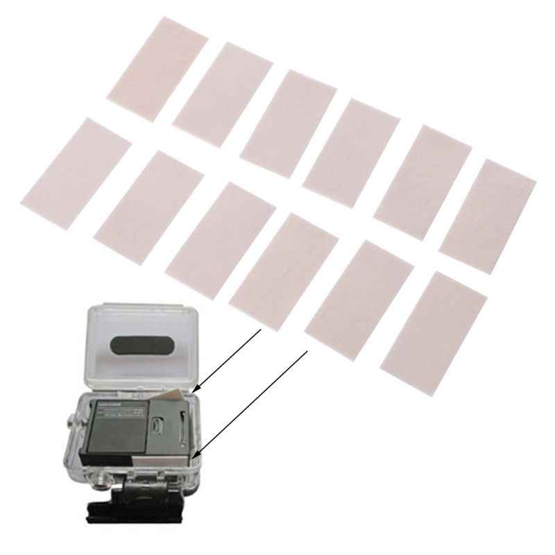 12pcs Anti Fog Inserções para Gopro Herói 7 5 4 6 Preto Xiaomi Yi 4K Sjcam Eken H9 Caso Câmera À Prova D' Água para Ir Pro Acessório