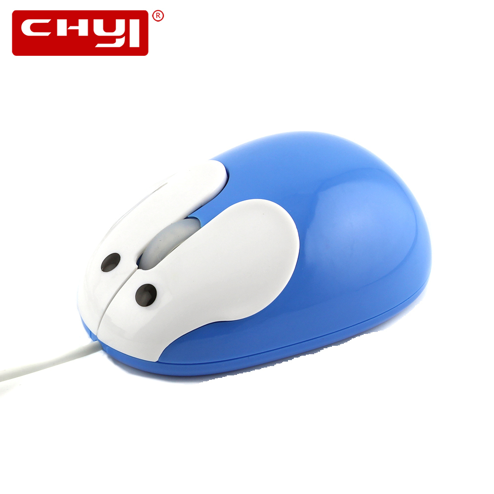 CHYI Wired Mouse Ergonomic 1200 DPI 3D Cartoon Rabbit Optical Mini Mice USB Cable 4 colors Child Gift For PC Laptop Desktop