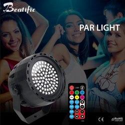 78 Led RGBW DMX lampa PAR Disco Party dźwiękiem światła centrum muzyki sprzęt etap DJ oświetlenie stroboskopowe z pilotem