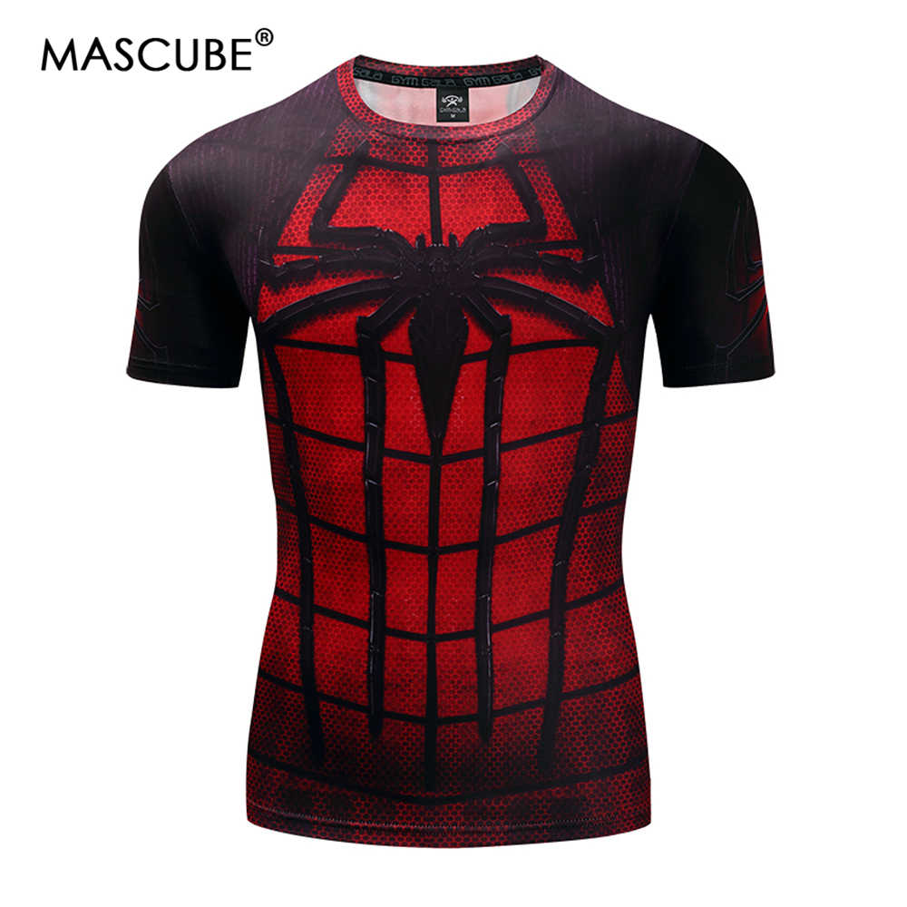 MASCUBE 2018 новый мяч войны Человек-паук Бэтмен Супермен, Супергерой Alliance новое поколение человек плотная футболка с короткими рукавами