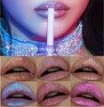 Nuevo maquillaje de la marca de colores metálicos lápiz labial mate impermeable duradera importa shimmer nude lápiz labial líquido brillo de labios maquiagem
