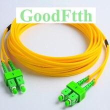 Cables de conexión de fibra SC/APC SC/APC SM dúplex GoodFtth 1 15m