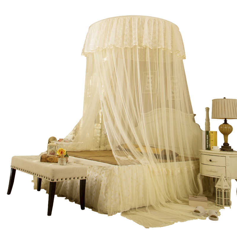 Lace Mosquito Net Universal Canopy Tent For Double Bed Decorative Hung Bed Curtain Repellent Tent Insect Reject Canopy Netting