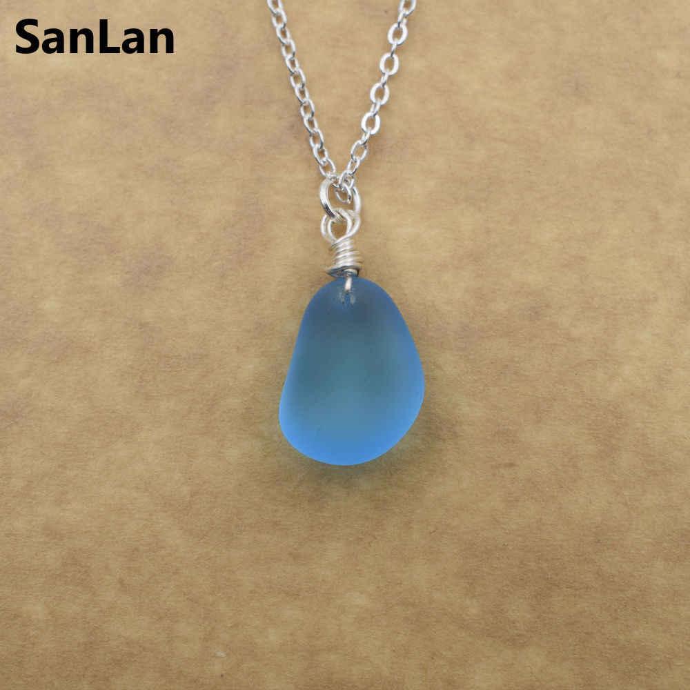 handmade sea glass necklace
