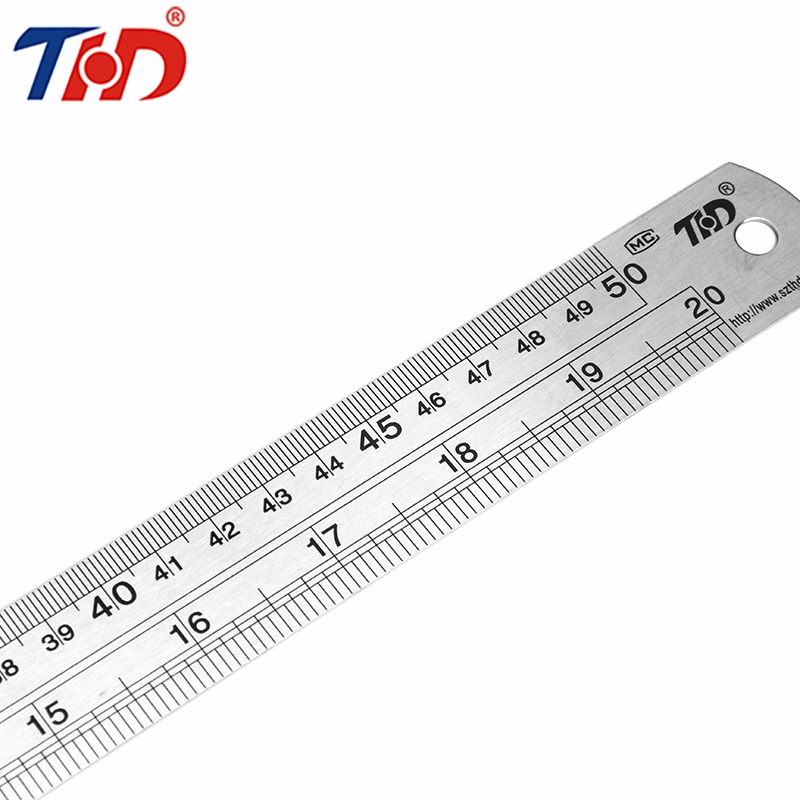 THD 50cm Steel Metal Ruler Metric Rule Precision Hardware Tools Ruler Double Faced For Office Papelaria