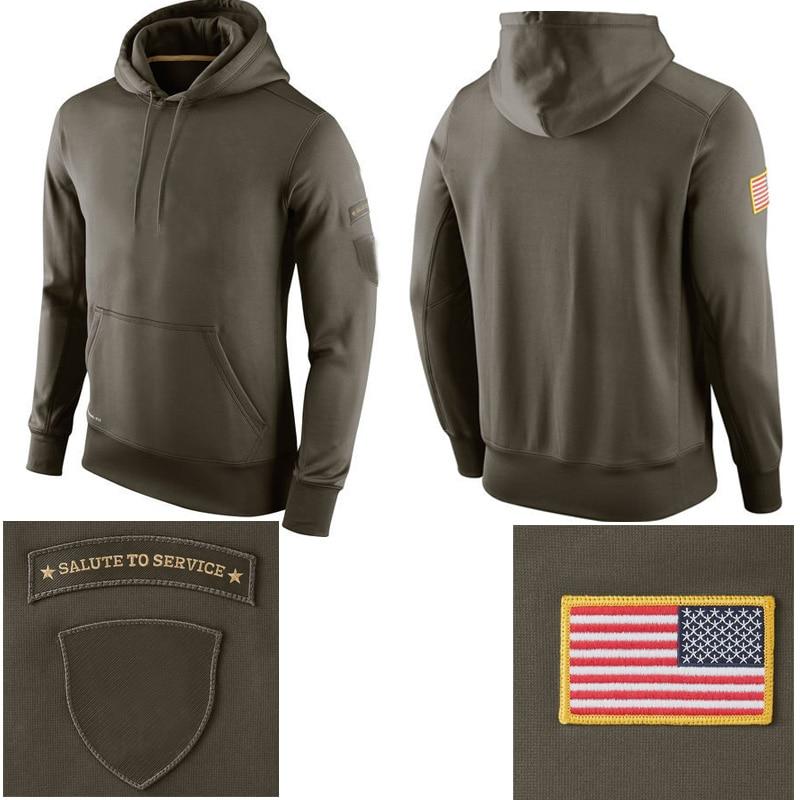 pretty nice f1d53 99bad US $45.8 |Salute To Service Hooded Hoodie Sweatshirts American Football All  Teams Hoodie Sweatshirts Football Jacket Men Custom Hoodies-in Hoodies & ...