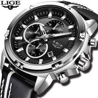 Relogio Masculino 2018 LIGE Mens Watches Top Brand Luxury Watch Men Casual Leather Military Waterproof Sports Quartz Wristwatch