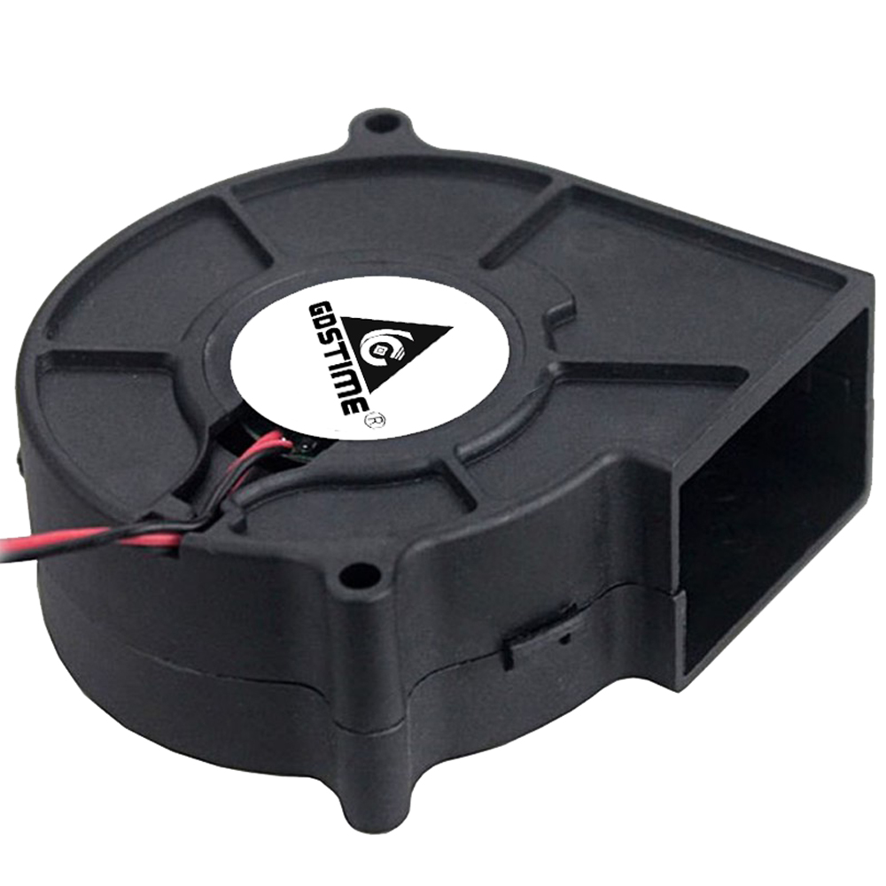 Gdstime 7530 Blower 5V 12V 24V 2Pin 75x75x30mm Radial Turbo 7530 70mm DC Cooling Blower Fan in Fans Cooling from Computer Office